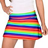 Queen of the Court Rainbow Love is Everything Tennis Skirt   Athletic Pickleball Skort (Medium (10))