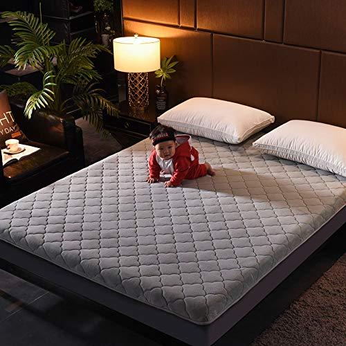 GFYL Materasso Trapuntato per Pavimento Giapponese, Materasso per Pavimento di Alta qualità Tappetino Pieghevole per Tatami, Cuscino per Dormire Giapponese,B,135 * 200cm