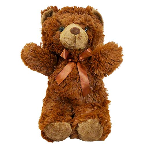 Traditional Teddy Bear Stuffed Plush 14' Fluffy and Full of Hugs and Cuddles (Brown)