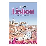 ASFGH Portugal Lissabon Vintage Poster Dekor Malerei Poster