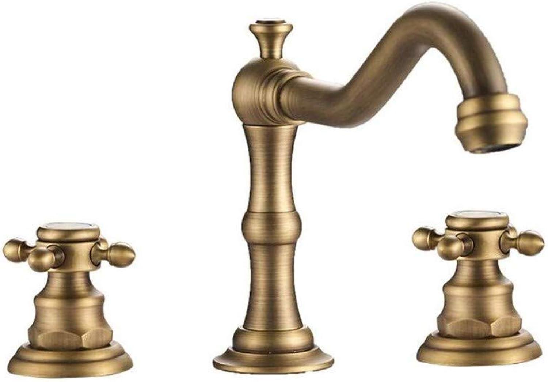 Wasserhahn Einhand Wasserhhne Küche Messing Waschbecken Becken Mischbatterie Wasserhahn 3 Stücke Bronze Wasserhahn Dual Griff Waschbecken Mischbatterien Drei Lcher