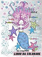 Sirena Libro da Colorare età 4-8: Incredibili 60 disegni da colorare per bambini e bambine con sirene carine e i loro amici │ Libro di attività con disegni adorabili per ragazzine