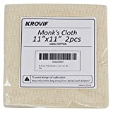 """11""""x11' 2pcs Monk's Cloth Premium 100% Cotton for Rug Punch, Punch Needle, Rug Hooking, Pinch Needle"""