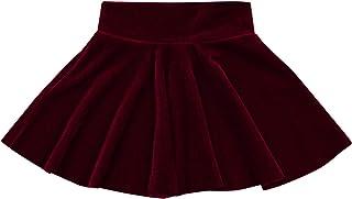 Infant Toddler Baby Girl Pleated Skirt Velvet High Waist Mini Skirt Fall Warm Princess Skirt Casual