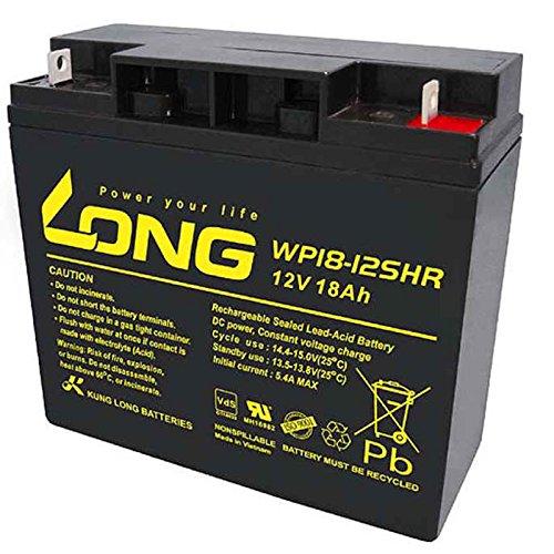 Kung Long WP18-12SHR Akku PB Blei 12 Volt mit 18Ah, mit M5 Flachpol Schraubanschluss 181 x 76 x 167mm