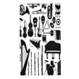 LAKUERVI Microfiber Hand Towel for Bathroom,Clarinet Music Instruments Flute Banjo Drum Bassoon Piano Piccolo Trombone,Super Soft Highly Absorbent Sports Face Cleansing Fast Dry Towel