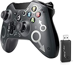 [2021 Newest Version] Xbox One Wireless Controller, Wireless PC Gamepad with 2.4GHZ Wireless Adapter, Compatible with Xbox...