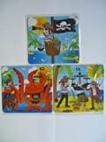 Pirate Mini Jigsaw Puzzles, 3 assorted designs by Henbrandt