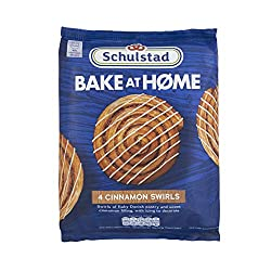 Schulstad Bake at Home Cinnamon Swirls, 4 x 86 g (Frozen)