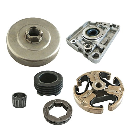 JRL 9,5 mm 7T Zahn-Kupplung, Trommelfelge, Ritzel & Ölpumpe, passend für Husqvarna 266 268 272 61