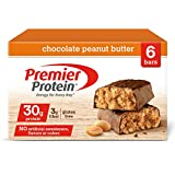 Premier Protein Nutrition Bar, Chocolate Peanut Butter, 30g Protein, 2.53 Ounce Bars (Pack of 6)