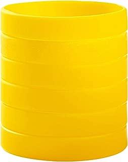 BRANDWINLITE Wholesale 6pcs/Pack or 12pcs/Pack Single Colors Blank Silicone Wristbands Rubber Bracelets