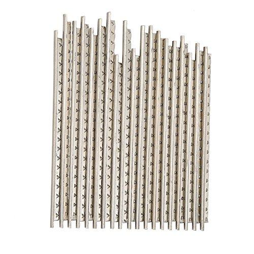 19 Stücke Gitarre Fret Drähte, 2,0mm Durable Weiß Kupfer Fretwire Set Ersatzteile für Klassische Holzgitarren
