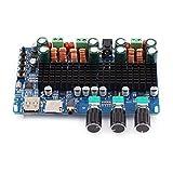 Semiter Placa amplificadora de Audio, Placa amplificadora de Potencia de Entrada TF Digital de 2.1 Canales, Estable para Altavoz de 4, 6, 8 ohmios Mp3, Wma, Wav, Flac