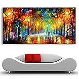 HYFBH Pintura Moderna Abstracta Cuadros Grandes Árboles de la Noche Pinturas al óleo sobre Lienzo Arte de la Pared Decoración para el hogar-60x120cm Sin Marco