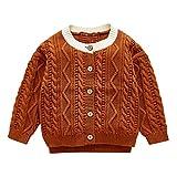 KUDICO Cardigan bébé, Bébé garçons Filles Couleur Unie Chandail à Capuchon Tricoté Sweater Tops Manteau Vêtements Hoodie Manteaux