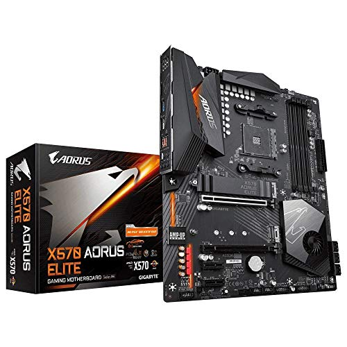 GIGABYTE X570 AORUS Elite Wi-Fi (AMD Ryzen 3000/X570/ATX/PCIe4.0/DDR4/Intel Dual Band 802.11AC Wi-Fi/Front USB Type-C/RGB Fusion 2.0/M.2 Thermal Guard/Gaming Motherboard)
