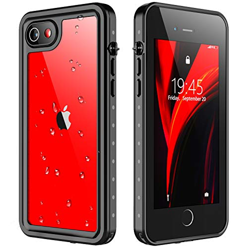 Redpepper for iPhone SE 2020 Waterproof case,iPhone 7/8 Waterproof Case, Protective Cover with Built-in Screen Protector, Dustproof Shockproof Case for iPhone 7/8/SE 2020