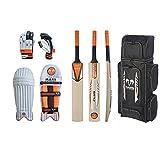 Conjunto para jugadores de críquet - Disponible en Mini y Junior. Un gran paquete de productos, como un bate, guantes y almohadillas todo en un bolso.
