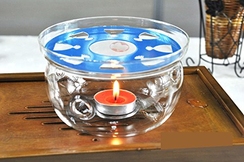 Sun's Tea (Tm) Ultra Clear Borosilicate Glass Teapot Warmer (Clear)