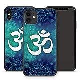 Handyhülle Om für Apple iPhone Silikon MMM Berlin Hülle Yin Goa Mandala Buddha Peace Yoga PSY, Kompatibel mit Handy:Apple iPhone 11, Hüllendesign:Design 1 | Silikon Schwarz