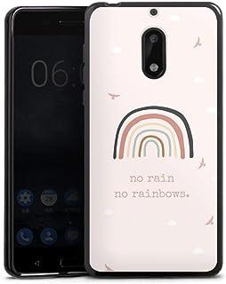 Siliconen Hoesje compatibel met Nokia 6 2017 TPU-Case Zwart Telefoonhoesje Regenboog Spreuken Statement