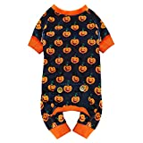 KYEESE Dog Pajama Halloween for Medium Dogs Pumpkin Dog Pjs Onesie Stretchable Soft Material for Holiday