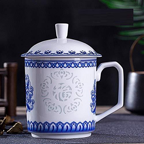 IRCATH geschenk voor vrouwen Jingdezhen bot porseleinen mok blauw en wit prachtige mok keramiek theekopje keramiek mok met deksel