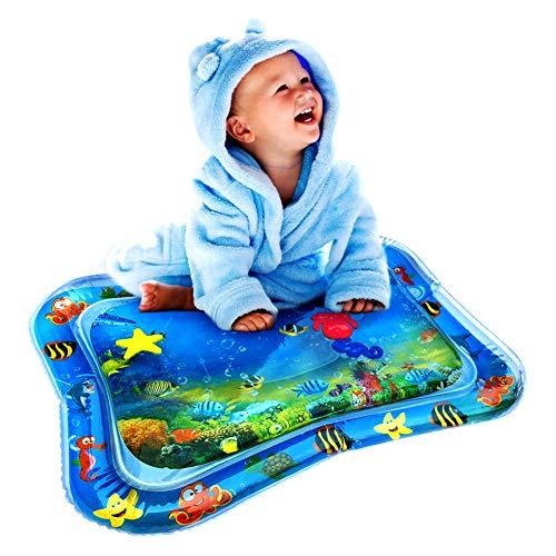 Wassermatte Baby, Swonuk 66 * 50CM Frei-BPA Wasser-Spielmatte mit Spaß Aktivitätszentrum von Spielzeug Das Wachstum von Kindern Stimulieren Aufblasbare und Wasserfüllung Wasserpark des Frühen Kindes