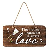Kitchen Wall Decor Sign, The Secret Ingredient is Always Love. Real Pallet Rustic Wood Kitchen Sign for Rustic Kitchen Decor, Farmhouse Kitchen Decor with Love Sign. 6'x12'