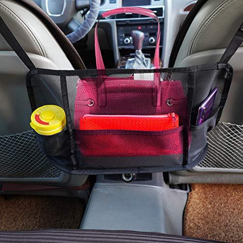 ASHAMX1 Red de bolsillo para bolso de mano de coche para bolso de coche, bolso de mano, soporte entre asientos de coche, red de...