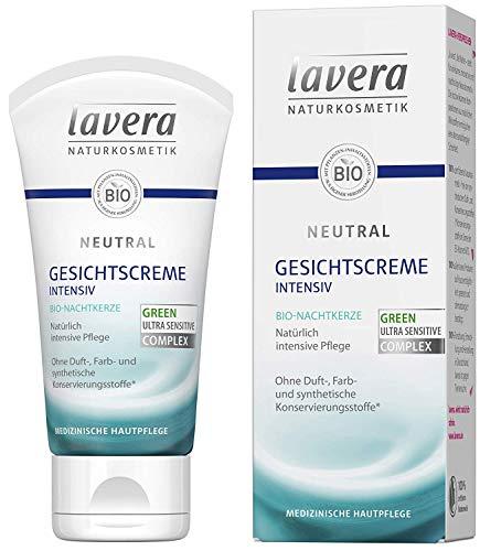Lavera Gezichtscrème neutrale biologische nachtkaars 3 stuks (3 x 50 ml)