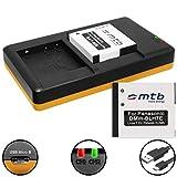 2 Batteries + Double Chargeur (USB) pour DMW-BLH7(E) / Panasonic Lumix DMC-GF7 / DMC-GM1, GM5 / DMC-LX15 / DC-GX800 - Cable...