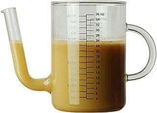 DOITOOL Filter Olieglas Waterkoker met schaal Hittebestendige Koud Water Waterkoker Huishoudelijke Glazen Sap Pot Eenvoudi...