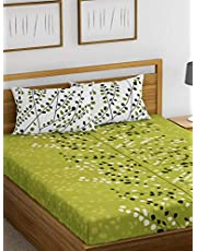 HUESLAND by Ahmedabad Cotton Comfort Cotton Bedsheet with Pillow Cover