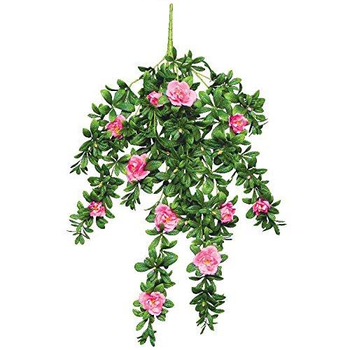 Windowbox Gardens2you - Azalea Artificiale per Esterni, 86,4 cm