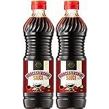 MontoFresh Worcestershire Sauce Umami-Rich Flavor | Marinade, Glaze, Dressing & Dipping Sauce | Non GMO, Vegan, Kosher Parve | 2 Pack Squeezable Bottle | Great for Meats, Vegetables & Stir Fry