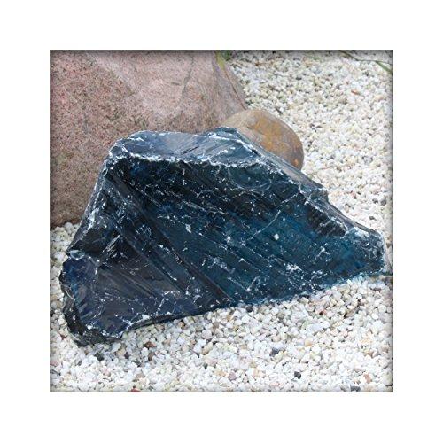 Glasbrocken Glasstein Gabione Deko Einzelstücke ca.18 - 25 cm 12 - 17,5 kg Farbe Light Blue