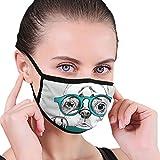 Protector facial de bulldog francés en gafas de protección nasal antipolvo