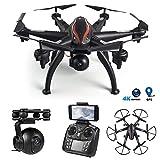 SMUOO Drones Professionnels avec 4K caméras, 5G 110 ° Grand Angle 4K FPV WiFi positionnement GPS Caméra ESC Six-Axis Drone, One-Click Takeoff/atterrissage, Drone pour Les Adultes pour Les débutants