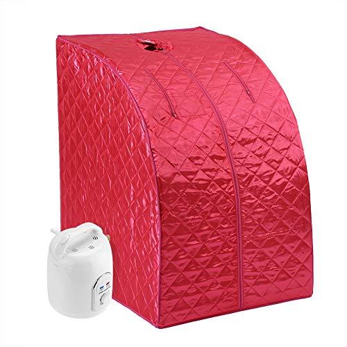 Sauna SPA Machine, Portable Plegable 1.5L Vapor Sauna SPA Full Body Una Persona Sauna SPA para Todo el Cuerpo Carpa de máquina Adelgazar Pérdida Terapia de Peso(Enchufe de la UE)