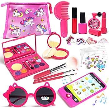 Lehoo Castle Little Girls 26-Pieces Makeup Set with Cosmetic Bag