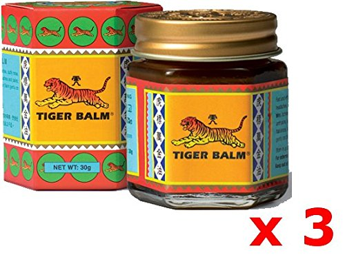 3 Baumes du Tigre Rouge (30g) Douleurs musculaires - Red Tiger Balm (30g) x3