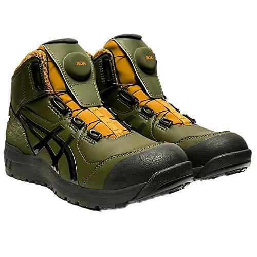 安全靴 アシックス asics スニーカー ウィンジョブ JSAA規格A種認定品 FCP304 ハイカット セーフティシューズ 25.0 302スモッググリーン×Gグレー