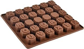 AvoDovA Moules en Silicone pour Chocolat, Moule à Lettre en Silicone, Mini Moule Chocolat pour Enfants, Moule Pâtisserie à...