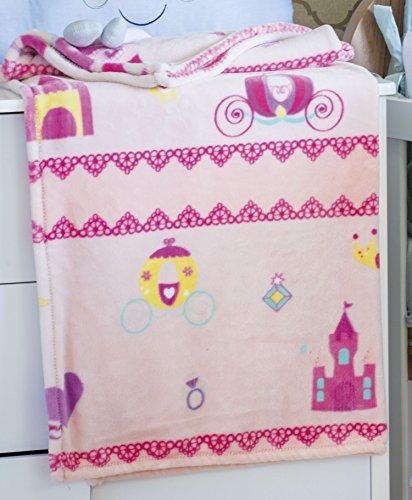 Cobertor Flannel Kyor Infantil Princesa JolitexMulticor Poliéster