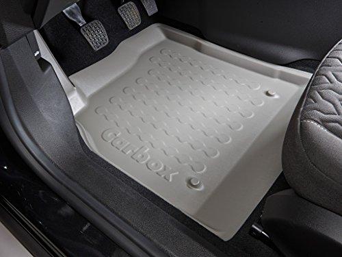 Fussraumschalen Auto Fußmatten Gummimatten Set 2-teilig Fahrermatte + Beifahrermatte grau passegenau Hinweise beachten!