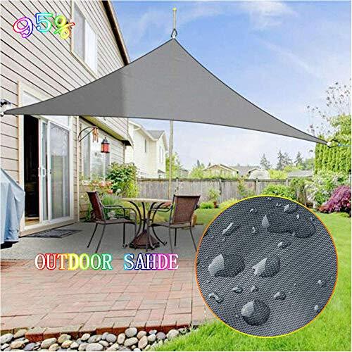 L-KCBTY Sonnensegel Dreieckig 3X3X3m,wasserdicht Zeltplane,pergola Sonnenschutz Überdachung,Schattenspender,Premium Qualität,Sichtschutz