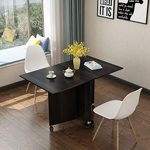VBARV Mesa de Comedor Plegable Multifuncional, Mesa de Comedor Extensible, con Rueda Universal Que Ahorra Mano de Obra, diseno Plegable, Escritorio Grande, Muebles de Comedor de Cocina