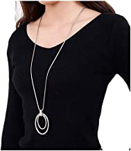 Best silver sweater necklace Reviews
